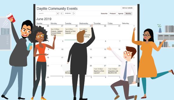 Daylite Community Events calendar