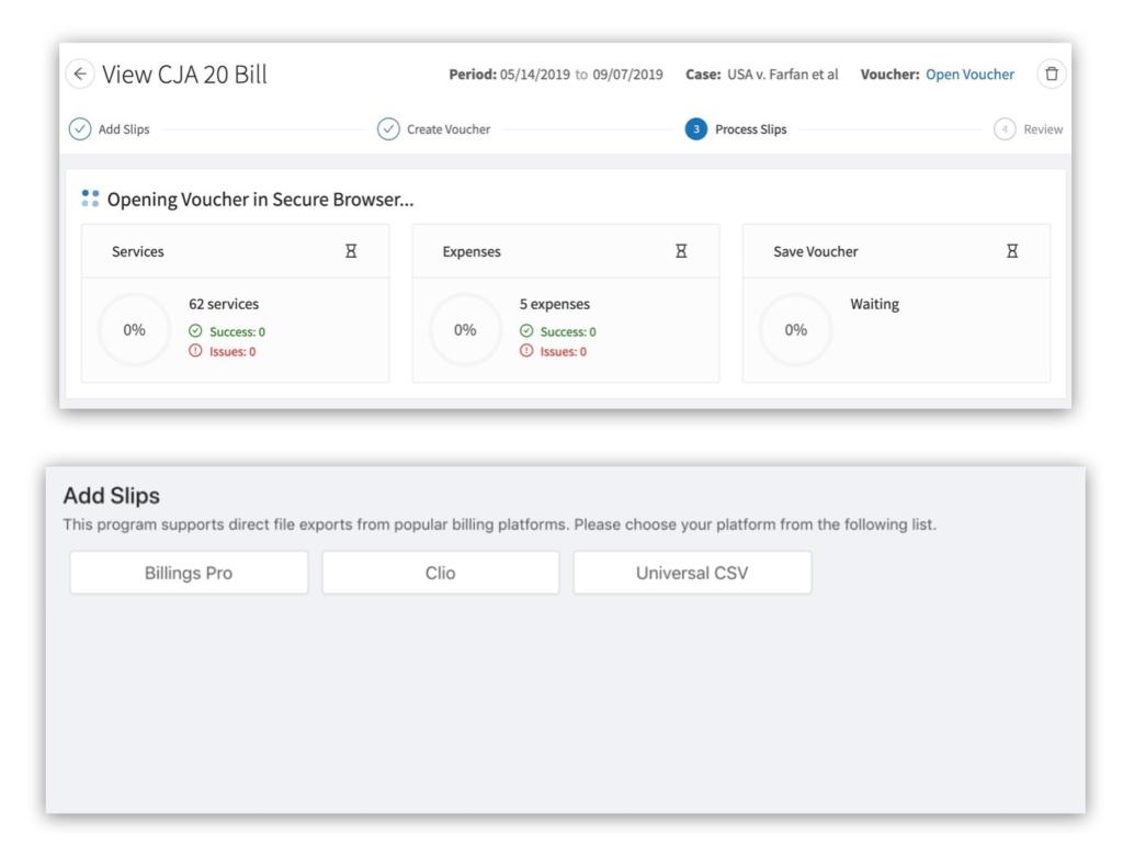 Billings Pro and evolveVouchers integration CJA