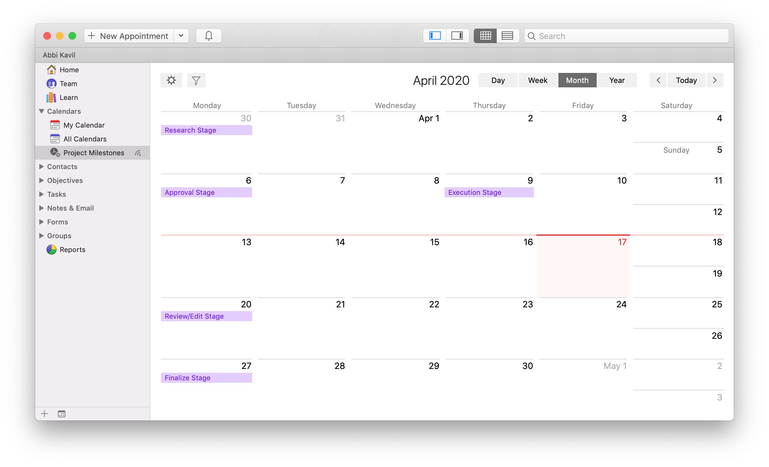 daylite mac crm calendar smart list filter smart calendar project milestones
