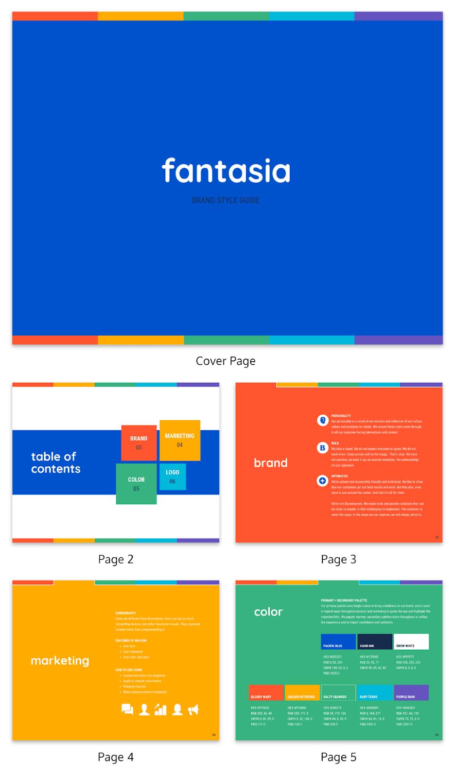 Branding guideline template