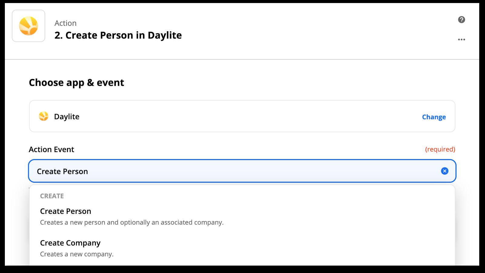 Zapier Daylite screenshot 2